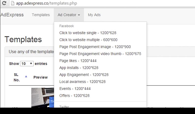 adexpress review templates