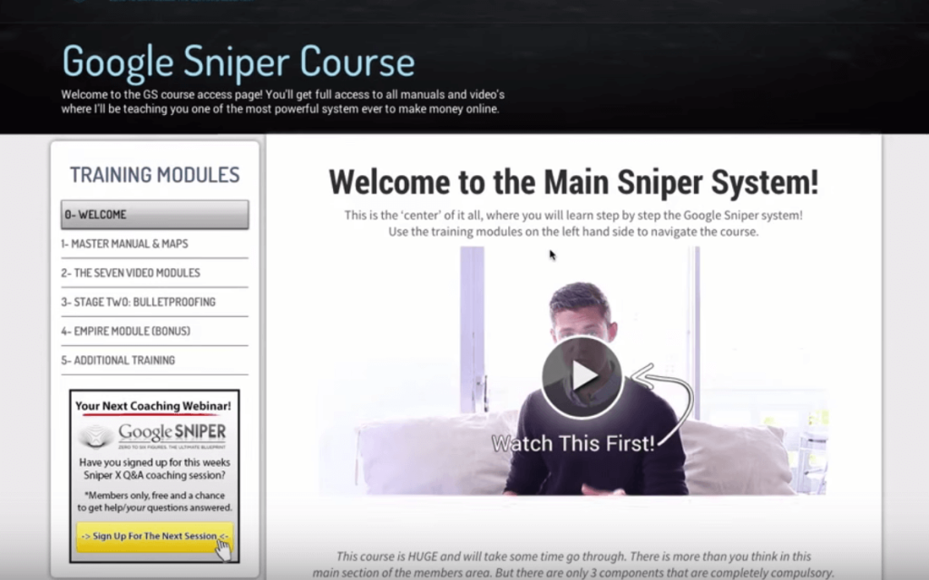 google sniper review overview