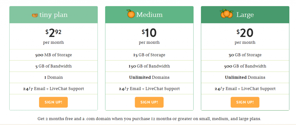 a small orange shared web hosting