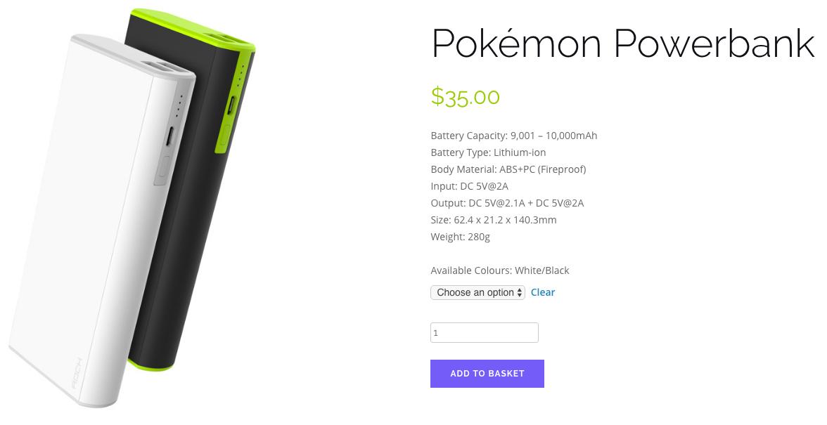 pokemon go power banks