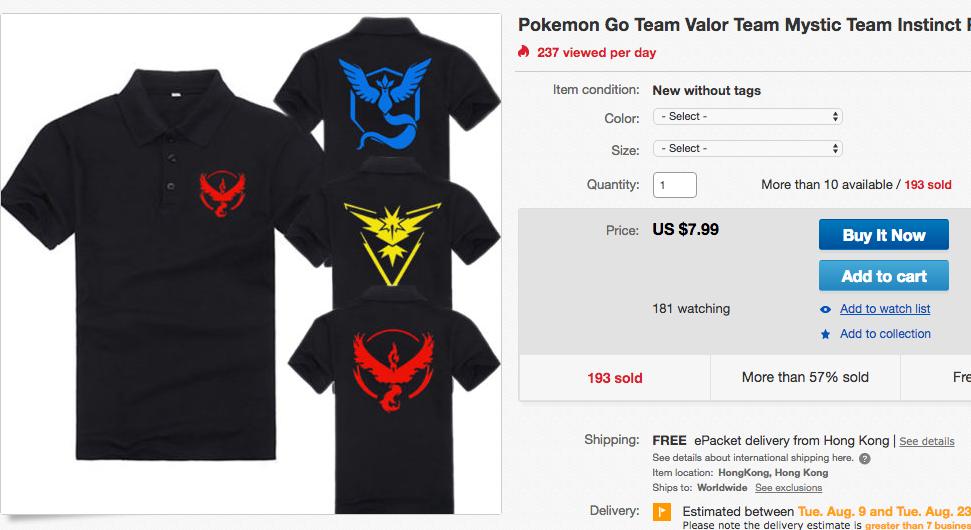 Sell Pokemon Go T-Shirts