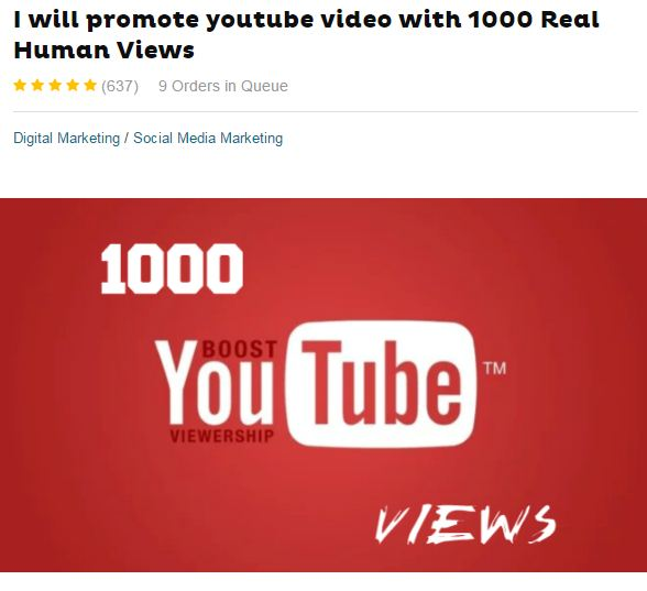 buy youtube views on fiverr