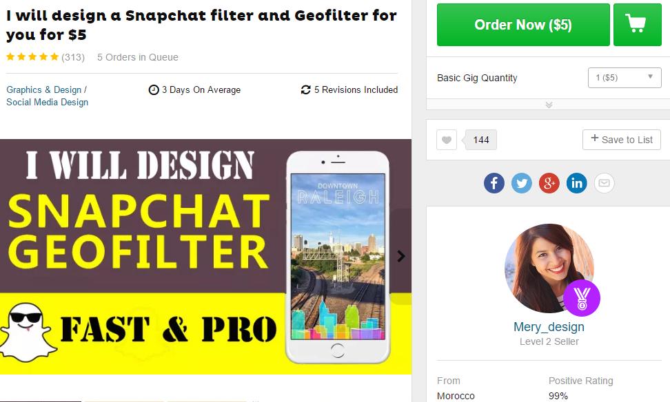 custom snapchat geo filter