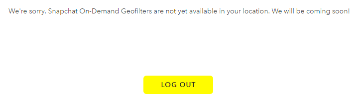 on demand geo filters