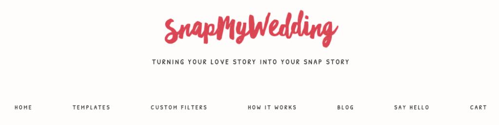 snap my wedding geo filter snapchat