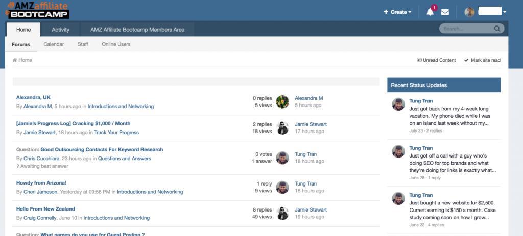 amz affiliate bootcamp community