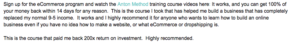 Anton Method Review