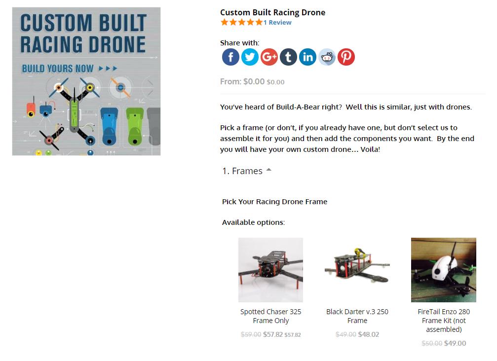 drone racing modification