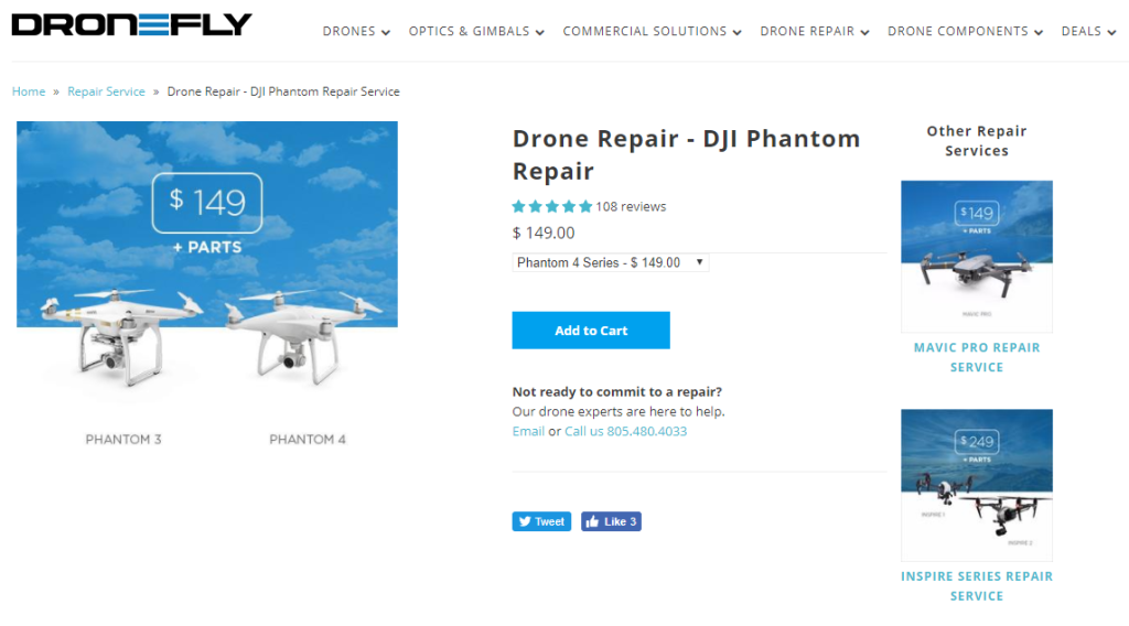 drone repair business