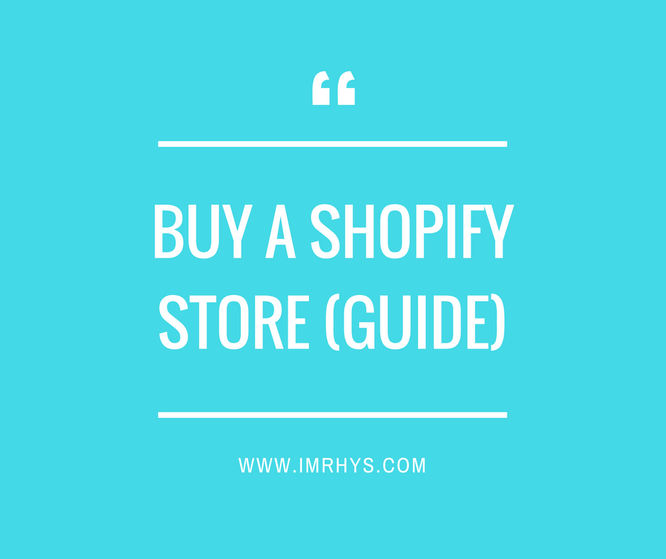 buy a shopify store